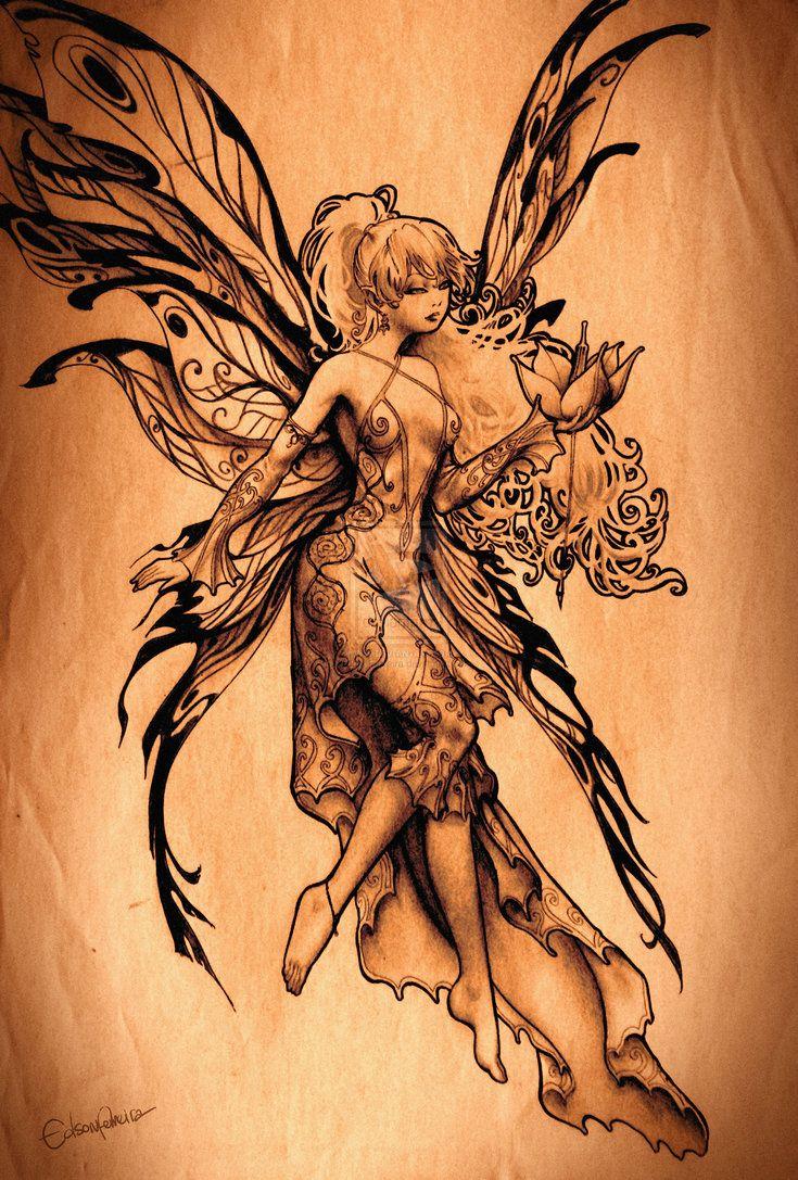 Best 25 fairies tattoo ideas on pinterest fairy tattoo for Sexy fairy tattoos