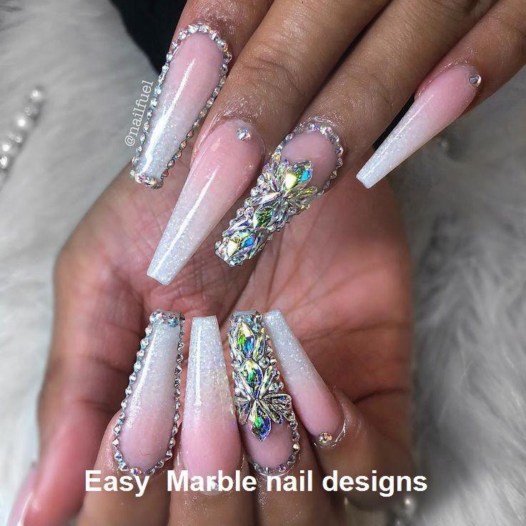 25 Marble Nail Design With Water Nail Polish 2 Marble Nail Designs Winter Nail Art Finger Nail Art