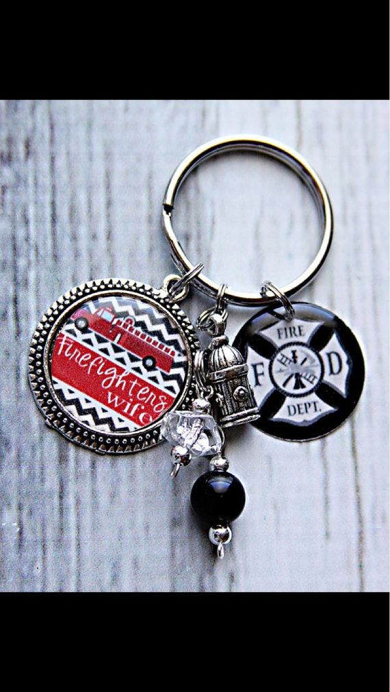 Fire wife key chain on Etsy, $9.00