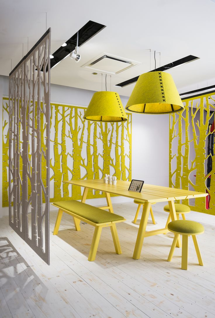 Room dividers and felt shades