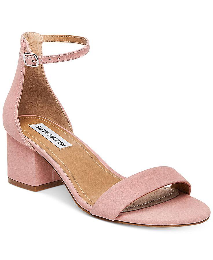 Steve Madden Women's Irenee Two-Piece Block-Heel Sandals – Sandals – Shoes -…