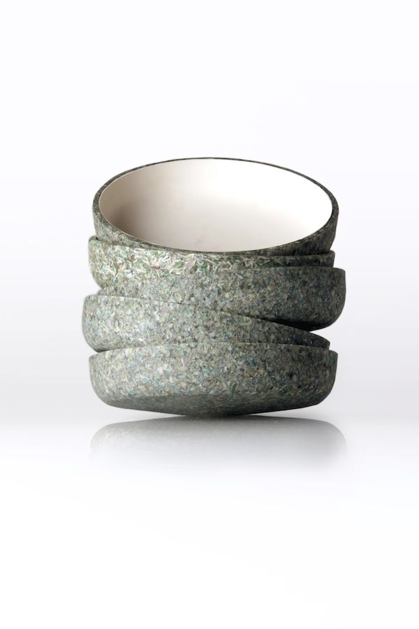 Arthur Analts and Rudolph Strelis : Money Bowls made of shredded GB pounds! #reclaimed #recycled #materials #green #eco #sustainable #design #housewares #homegoods