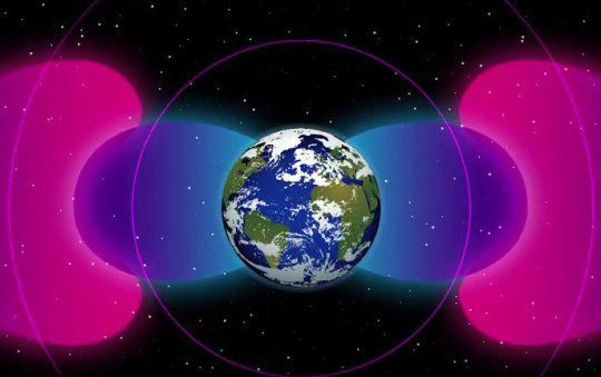 Very Low Frequency radio waves have created a protective bubble around the planet