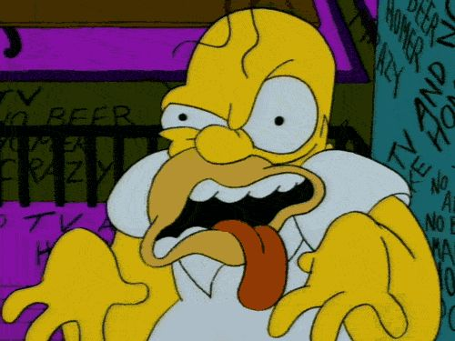 Homer Sampsen of the Simpsons WANTED FOR: giving me nightmares for 222,000 years REWARD: his food