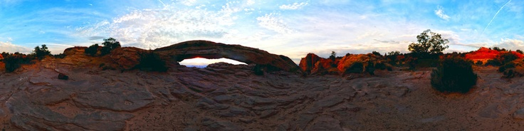 The Mesa Arch is thebestSunrise Spot in the Island in the sky section of Canyonlands National Park. If your staying in Moab you should leave a hour and half before sunrise.