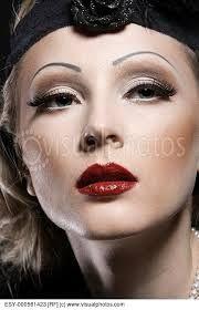 Resultado de imagem para make up 30´s