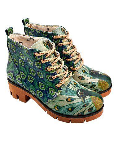 87de28831d Look what I found on  zulily! Blue Peacock Combat Boot - Women  zulilyfinds