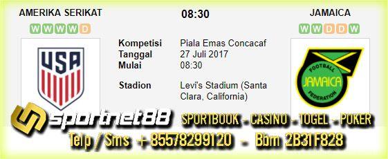 Prediksi Skor Bola Amerika Serikat vs Jamaica 27 Jul 2017Final Piala Emas Concacaf di Levi's Stadium (Santa Clara, California) pada hari Kamis jam 08:30
