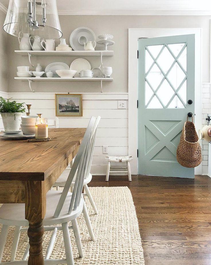 Weiße Bauernhaus-Esszimmer Inspiration von Loren …