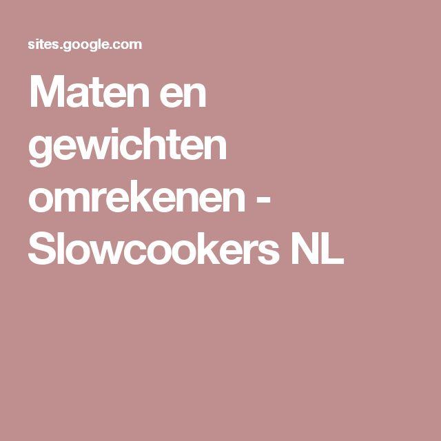 Maten en gewichten omrekenen - Slowcookers NL