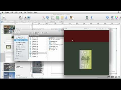 iBooks Author: How to add a 3D object | lynda.com tutorial