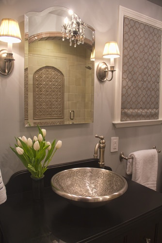 Moroccan Inspired Bath Mediterranean Bathroom
