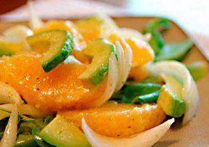 Рецепт №1: Салат французский с апельсином и авокадо