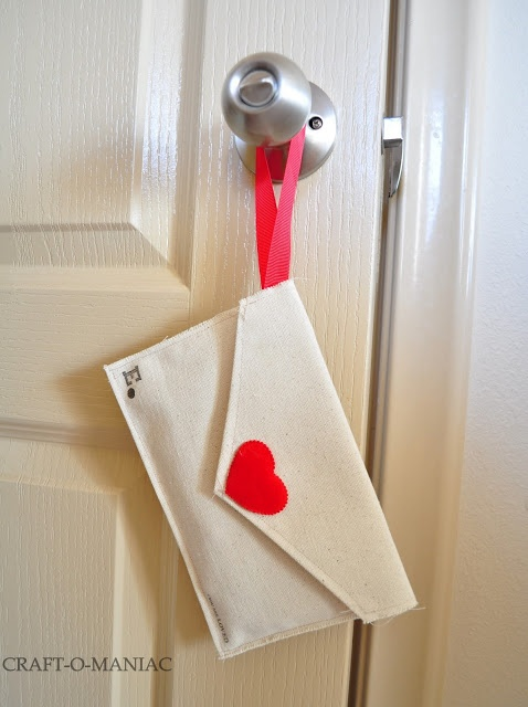 DIY Valentine Fabric Envelopes- and use them for a Valentine Advent