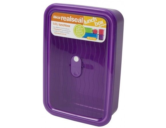 Realseal™ Lunchbox, 1.0 L Ideal for all sorts of salads or combinations such as a sandwich and a piece of fruit or cake. Or enjoy leftovers from dinner that are nice eaten hot or cold.