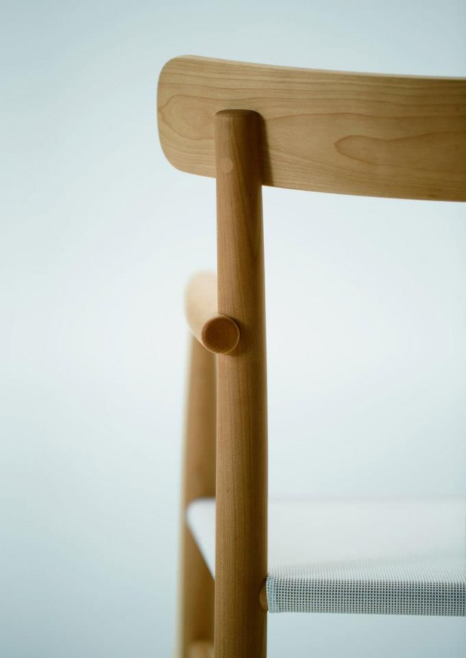 Sneak peek of the new armchair version of the Lightwood Chair by Jasper Morrison for Maruni.