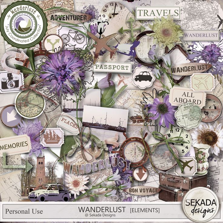 Personal Use :: Element Packs :: Wanderlust - Elements