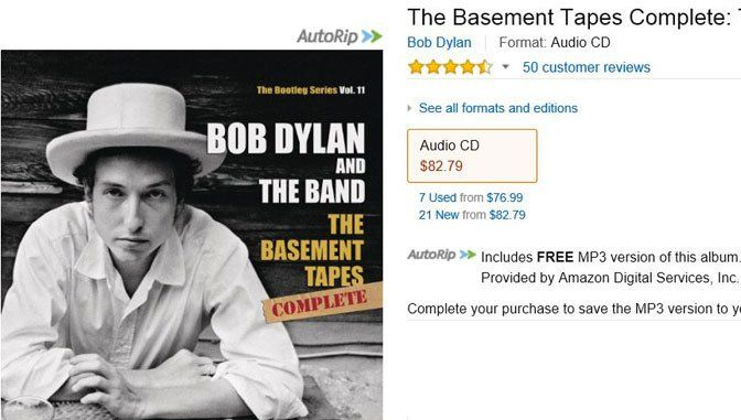 Now the best version of Bob Dylan's Basement Tapes is even more affordable