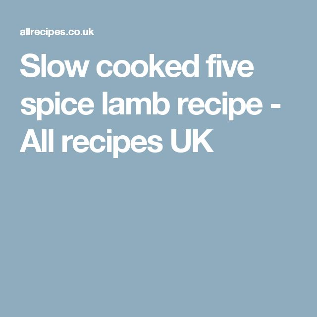 Slow cooked five spice lamb recipe - All recipes UK