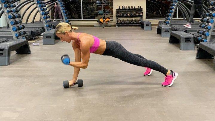 Kira Stokes Kirastokes Com On Instagram Add More Upper Body Goodness To A Renegade Row Kickback With The Simp Upper Body Workout Body Training Fitness Body