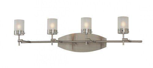 George Kovacs Brushed Nickel Five Light Bath Fixture In: Vanity Lights Ideas On Pinterest