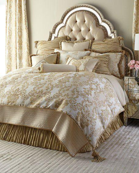 HCS16_H79W4 Austin Horn Classics Antoinette Bedding French Vanilla