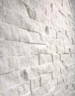 Split Face Natural Stone White Quartz Wall Cladding tiles, Sparkly ,                                                                                                                                                                                 More