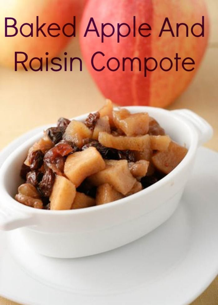 Baked Apple and Raisin Compote! Easy to make and so delicious! #apples, #compote,