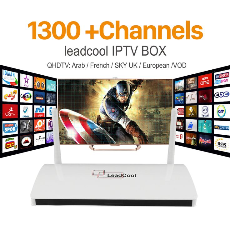 IPTV En Streaming Leadcool TV Box Android Wifi 1G 8G Français ROYAUME-UNI Italie Portugal Canaux Récepteur Europe Arabe IPTV Box Media lecteur