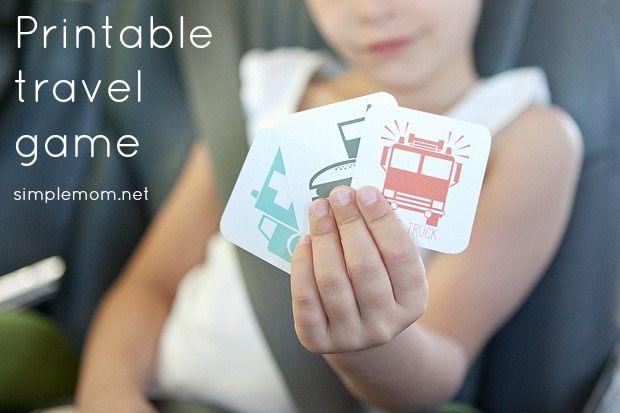 Printable travel game