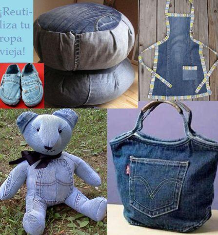 ¡Da una segunda vida a tu ropa vieja! | Reciclaje - #DIY – Recycling ecoagricultor.com                                                                                                                                                     Más