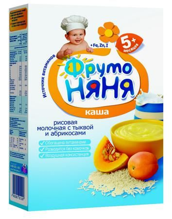 Каша Фрутоняня рисовая с тыквой и абрикосом, молочная, 200 г  — 97р.  «ФрутоНяня» — это высокачественное детское питание, для производства которого используются ��щательно отобранное сырье и самые современные технологии. Предлагаемая линейка продуктов в полной мере удовлетворяет потребности ребенка раннего возраста в сбалансированной, полезной и вкусной пище. Рисовая каша Фрутоняня изготовлена с добавлением натурального пюре из тыквы и абрикосов. Рисовая крупа содержит аминокислоты в…