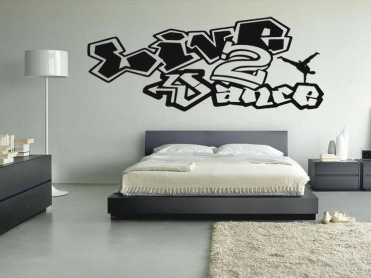 Decorating Awesome Graffiti Dancing Ideas For Modern Bedroom Design With Drum Floor Lamp Shade Indoor Art Fascinating Home Decor
