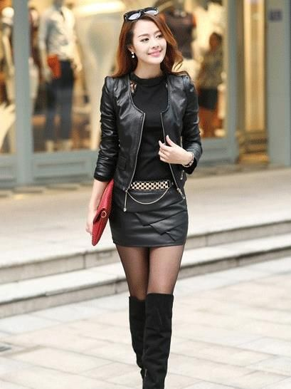 Model Sexy Business Women Pencil Skirts Hot Girls -3614