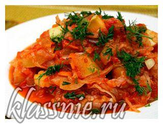 Овощное рагу с капустой и картофелем | Классные вегетарианские рецепты