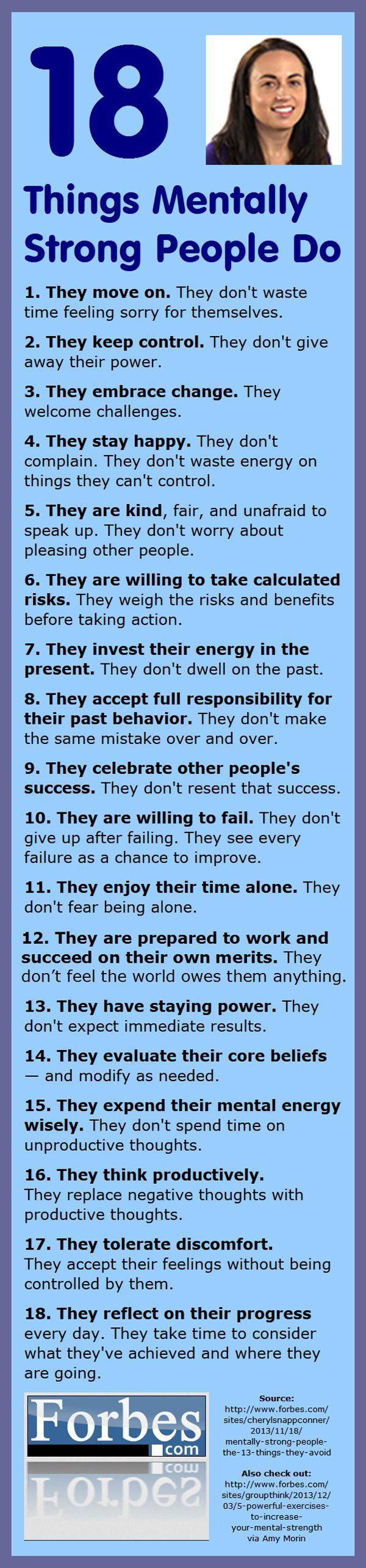 Mentally strong people move on and keep control. How about you?