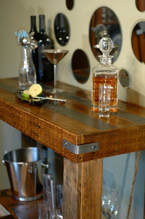 Hey, I found this really awesome Etsy listing at https://www.etsy.com/listing/235627151/rustic-bar-table-bar-pallet-wood-and