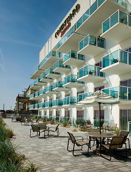 Ocean City Maryland Hotel Courtyard Oceanfront Hotels Love