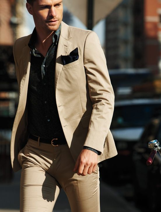 tan suiting for summer