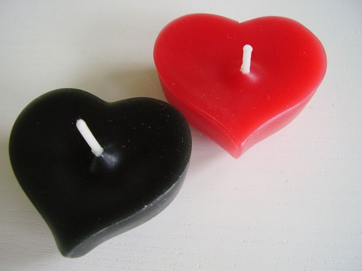 Red & Black gothic floating wedding candles and favours