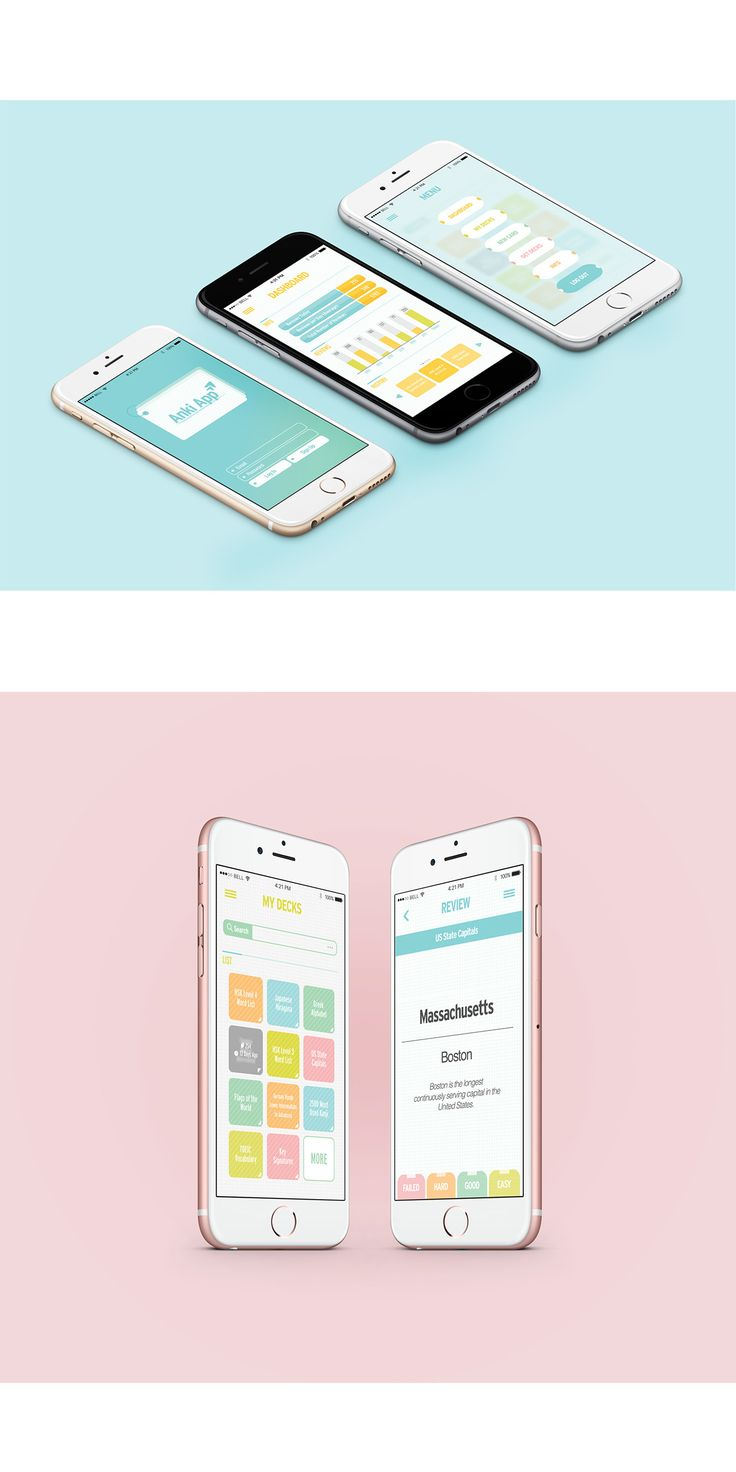 Anki App Redesign Project on Behance #UI #Phone #App #Application Design #Cute…