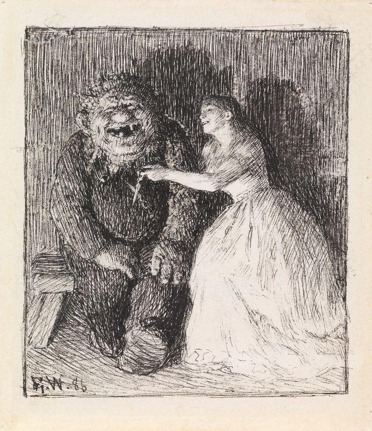 """NOR Så lo de så inderlig godt begge to, NOR Illustrasjon til """"Følgesvennen"""" i P…"""