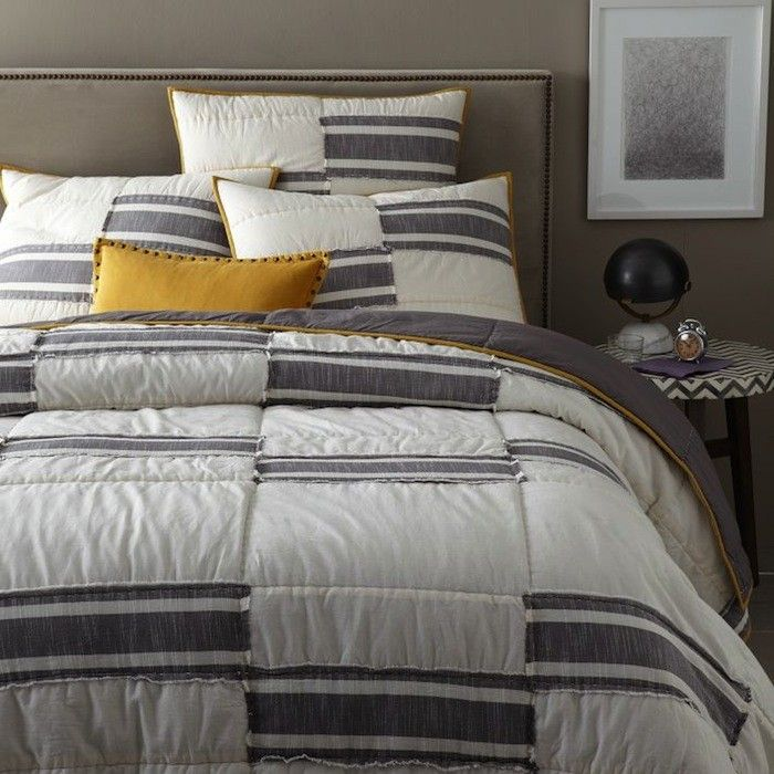 Steven Alan for West Elm Pewter Quilt | Remodelista