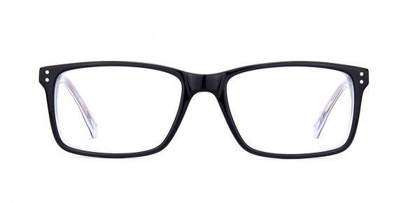 Dennis Sheen Black / Clear- Mens Prescription Glasses
