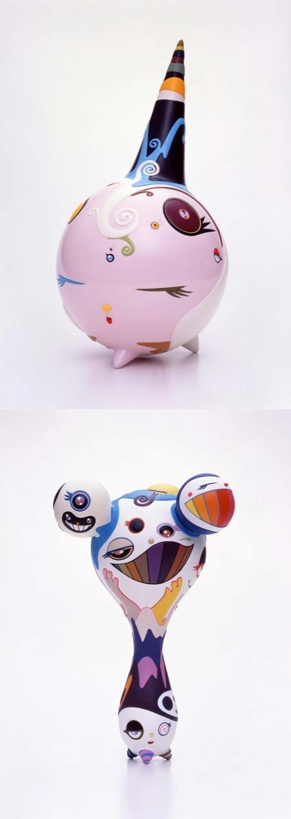 toy sculptures - by takashi murakami