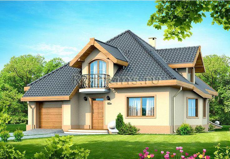 Типовой проект коттеджа с мансардой и гаражом R182. Проект одноэтажного дома  — удачный вариант недорогого, доступного, но при этом достаточного комфортного жилья для Вас и Вашей семьи. Небольшой экономичный загородный дом, который отлично впишется даже на небольшой участок земли. Планировка помещений решена очень рационально, при этом предусмотрены все помещения необходимые семье. В доме один жилой этаж. В данном проекте количество жилых комнат 5 , с удобной и рациональной внутренней…