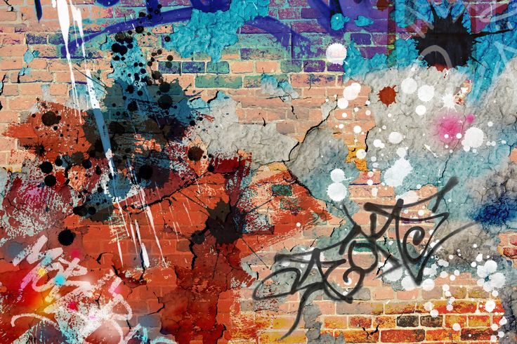 Cool Grunge Graffiti Wall Mural, custom made to suit your wall size by the UK's No.1 for murals. Custom design service and express delivery available.