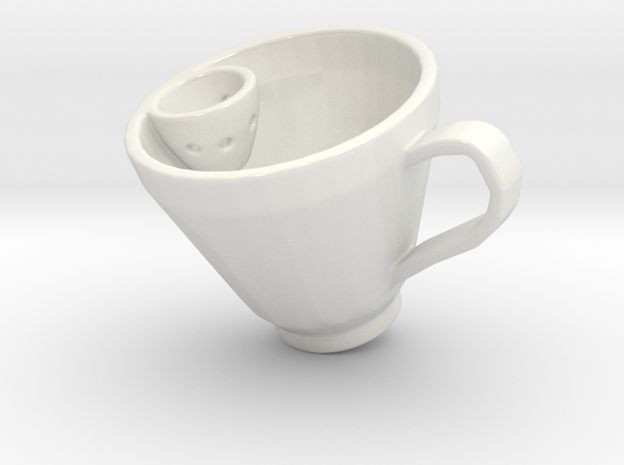 Smart Tea Cup by ARZNAK  Tea Cup with side pocket for tea pack.