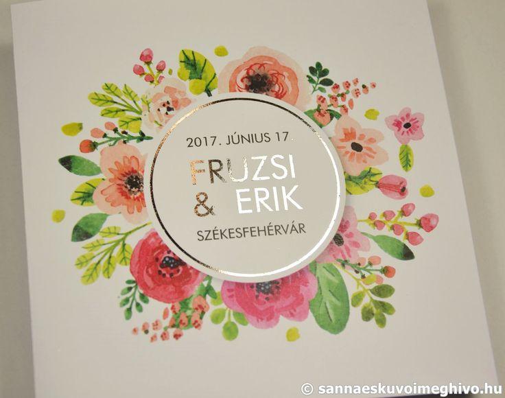 Virágcsokor esküvői meghívó, meghívó, virágos esküvői meghívó, színes esküvői meghívó, csillogó esküvői meghívó, sannaeskuvoimeghivo, egyedi esküvői meghívó, wedding card