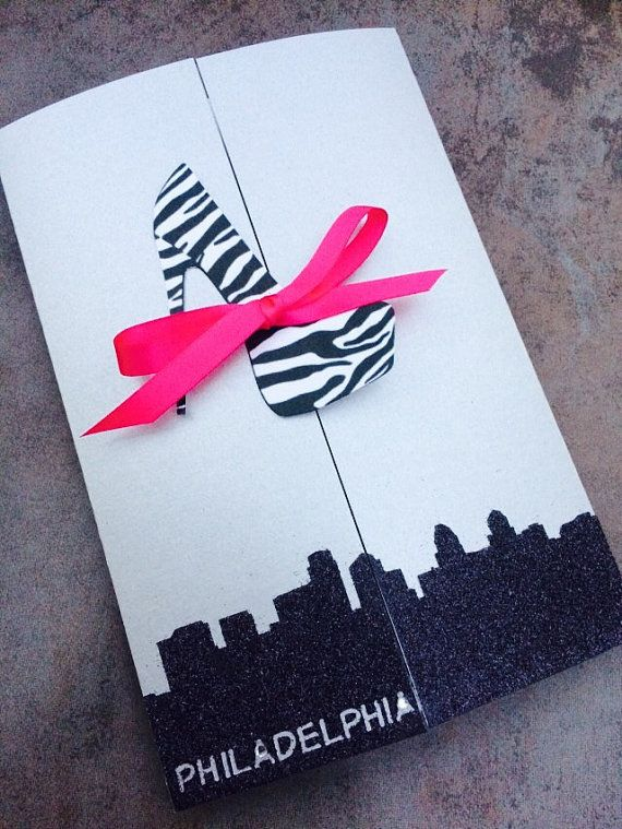 SEX and the CITY Themed Invitations with your choice of High Heel •Birthday • Bachelorette Party • Wedding or Lingerie Shower~with envelopes